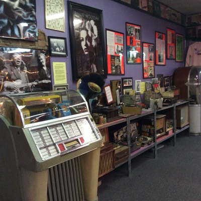 Museum Jukebox and Gramophone display
